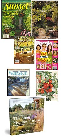Sunset Magazine, People Magazine, Waterscapes, Sunset Outdoor Living, Silicon Valley Magazine