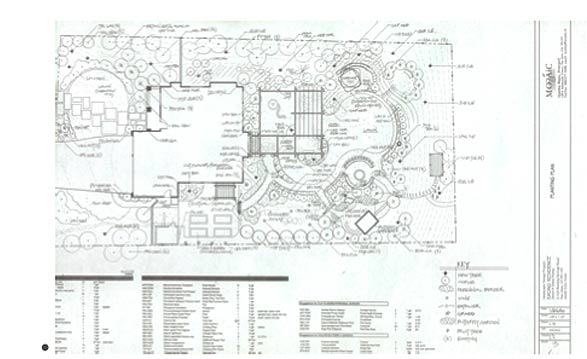 Mozaic Landscapes CAD drawing